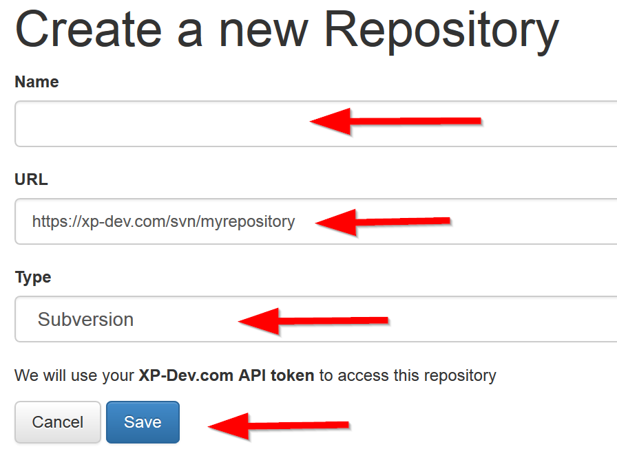 Create XP-Dev.com repository for automatic deployment